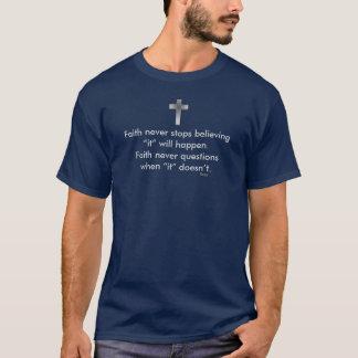 Faith Never Male Short Sleeve Blue Solid Cross T-Shirt
