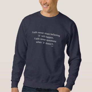Faith Never Male Sweatshirt w/Blue Flared Cross