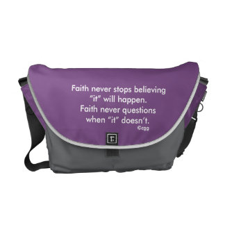 Faith Never Messenger Bag w/Black Solid Cross