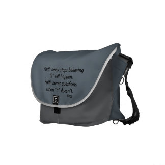 Faith Never Messenger Bag w/Blue Flared Cross