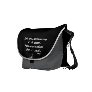 Faith Never Messenger Bag w/Feather Cross