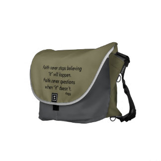 Faith Never Messenger Bag w/Steel Cross