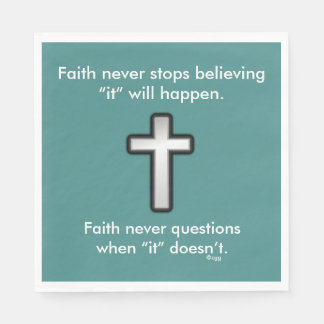Faith Never Napkins w/Black Outline Cross Disposable Serviettes