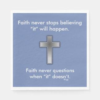 Faith Never Napkins w/Blue Cross Disposable Napkin