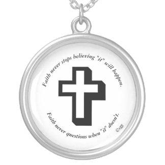 Faith Never Necklace w/Shadow Cross