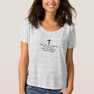 Faith Never Slouchy T-Shirt w/Black Solid Cross