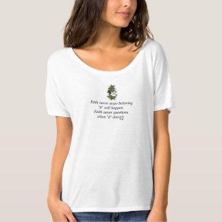 Faith Never Slouchy T-Shirt w/Blue Flower Cross
