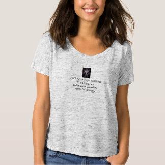 Faith Never Slouchy T-Shirt w/Feather Cross