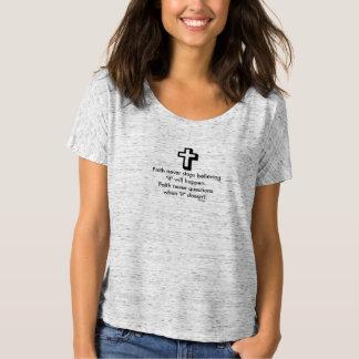 Faith Never Slouchy T-Shirt w/Shadow Cross