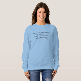 Faith Never Sweatshirt w/Blue Cross