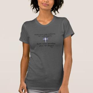 Faith Never T-Shirt w/Blue Flared Cross