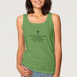 Faith Never Tank Top w/Black Solid Cross