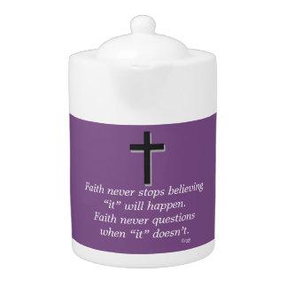 Faith Never Teapot w/Black Solid Cross