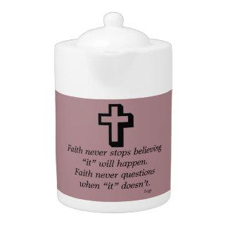 Faith Never Teapot w/Shadow Cross