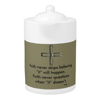 Faith Never Teapot w/Steel Cross