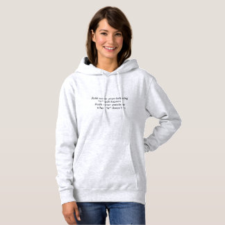 Faith Never Women's Hoodie w/Black Outline Cross