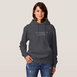 Faith Never Women's Hoodie w/Black Solid Cross