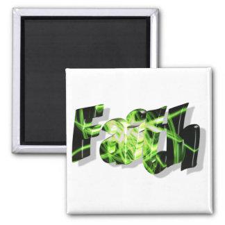 Faith Noir vert 3D Magnets