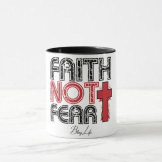 Faith Not Fear Black 11 oz Combo Mug