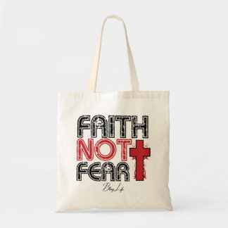 Faith Not Fear Bling Life Budget Tote