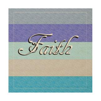 FAITH on Blue Wood Canvases
