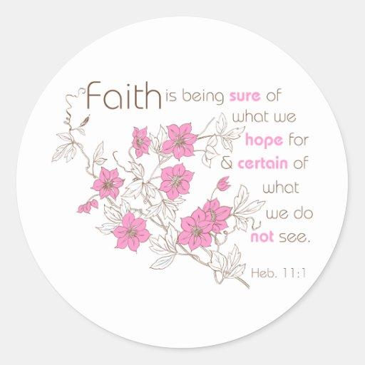 Faith (pink & brown) sticker