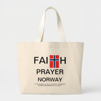 FAITH PRAYER NORWAY LARGE TOTE BAG