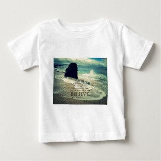 Faith quote beach ocean wave baby T-Shirt