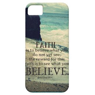 Faith quote beach ocean wave iPhone 5 cases