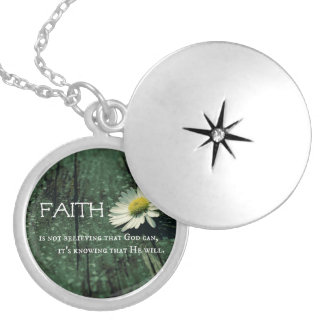 Faith Quote Silver Plated Necklace