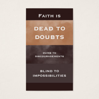 Faith Quote Simple Business Card