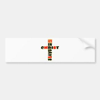 Faith Saves Cross Bumper Sticker