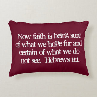 """Faith"" Scripture Accent Pillow"