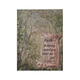 Faith Scroll Wood Poster