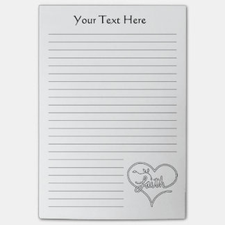 Faith seed heart Christian line art personalizable Post-it® Notes