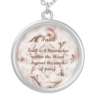 Faith Silver Plated Necklace