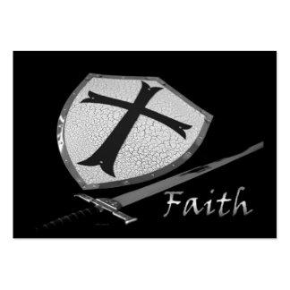 faith sword shield with Psalm 91 verses Business Card Templates