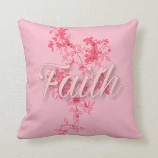 "Faith Throw Pillow (16"" x 16"")"