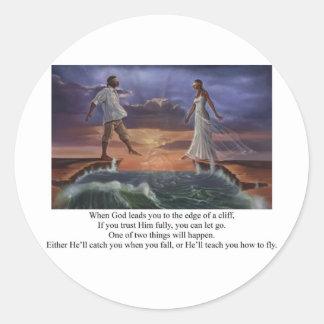 Faith Walk Round Sticker