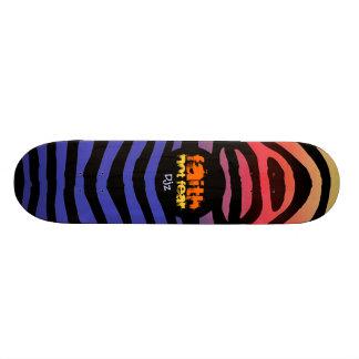 FAITH Zebra Design Custom Skate Board