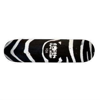 FAITH Zebra Design skateboard