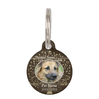 Faithful Friend Custom Pet Sympathy Pet Name Tag