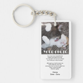 Faithful Pet Memorial Keychain