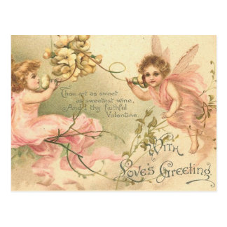 Faithful Valentine Flower Fairies Postcard