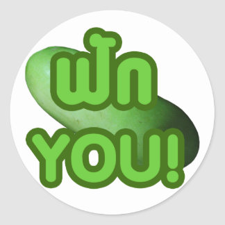 FAK YOU! ... Green Squash (Winter Melon) Classic Round Sticker