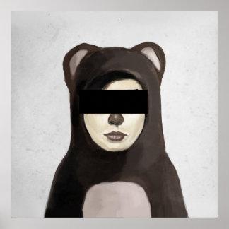 fake bear poster