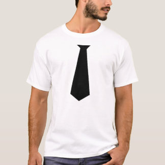FAKE BLACK NECK TIE SHIRT