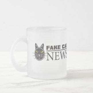 Fake Cat News Frosted Mug