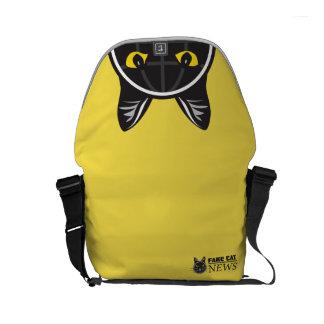 Fake Cat News Messenger Bag