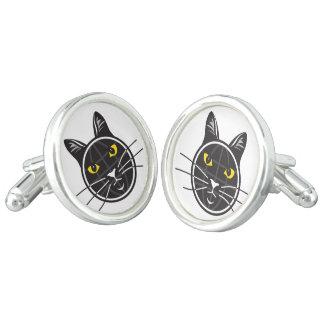 Fake Cat News Tazmo Logo Cufflinks, Silver Plated Cuff Links